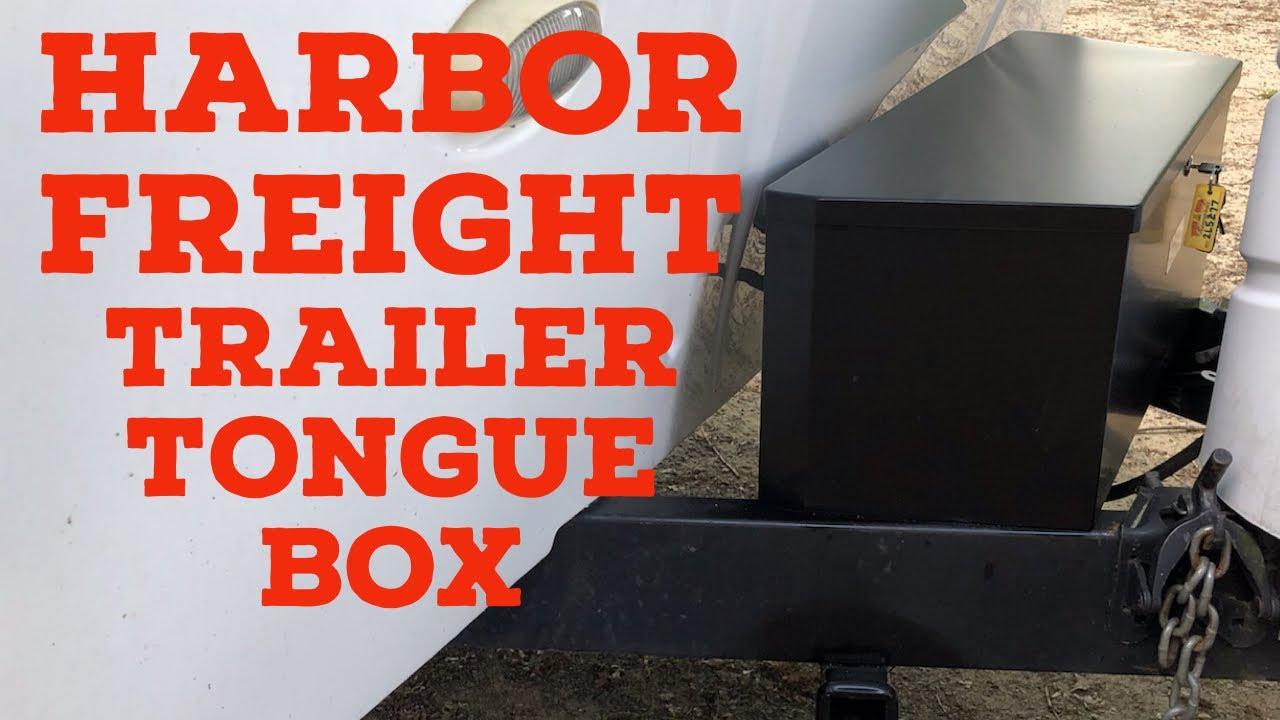 Harbor Freight Trailer Tongue Box Install Youtube