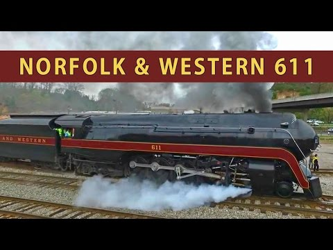 Norfolk & Western 611: Slipping in Asheville