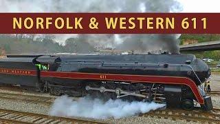 Norfolk & Western 611: Slipping in Asheville