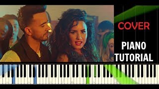 Luis Fonsi & Demi Lovato - Échame La Culpa - Piano Cover / Tutorial - Synthesia