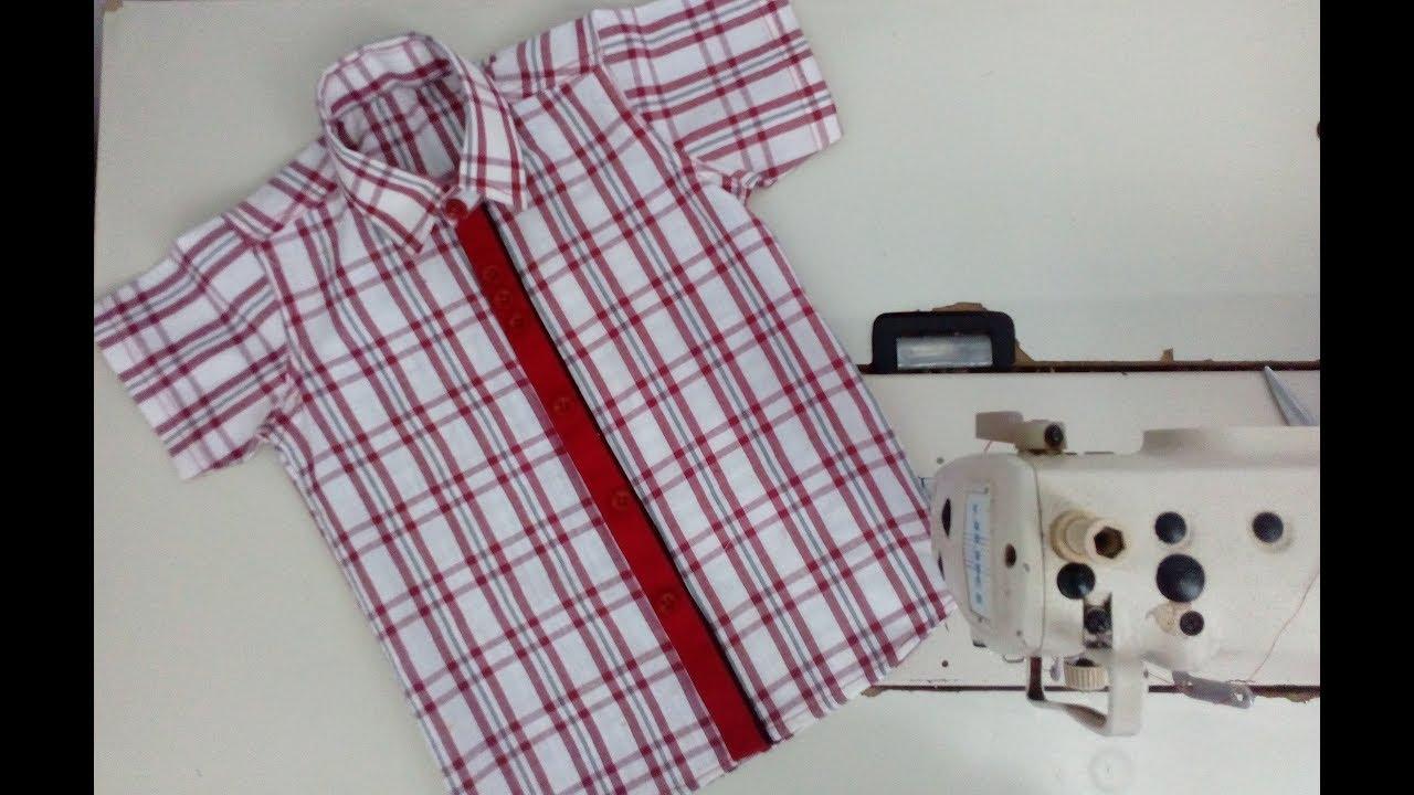 c066e8e4d39a Easy stich baby boy shirt cutting and stitching full tutorial