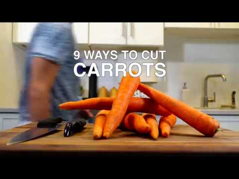 9 WAYS TO CUT CARROTS : PART 1 🥕