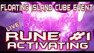 FORTNITE - LIVE FLOATING ISLAND CUBE EVENT - CUBE IS ACTIVATING RUNE #1 - ISLAND TRANSFORMING