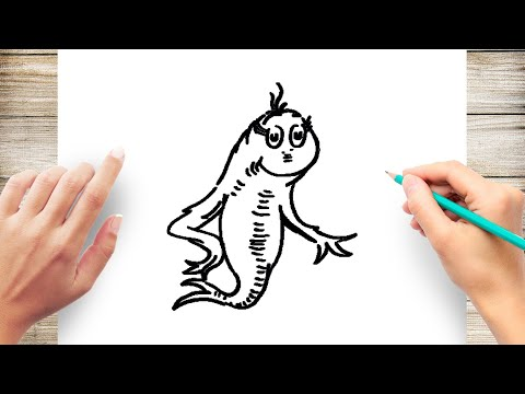 How To Draw Dr Seuss One Fish Step By Step