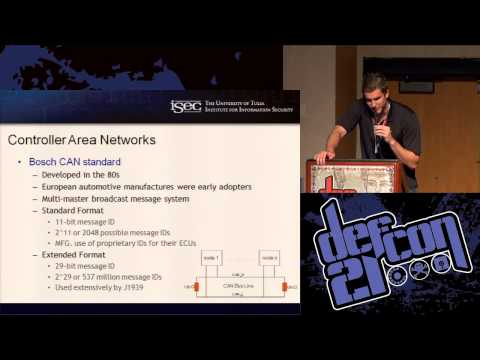 [DEFCON 21] How to Hack Your Mini Cooper: Reverse Engineering Controller Area Network (CAN) Messages