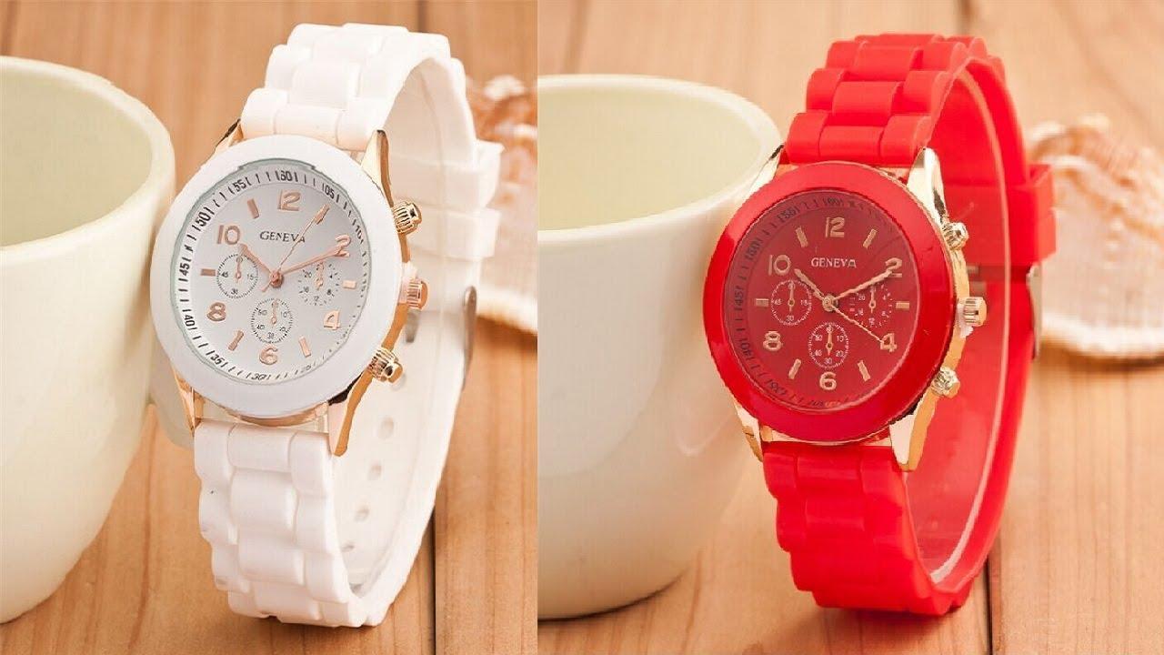 Спортивные светодиодные LED-часы браслет с Китая. - YouTube