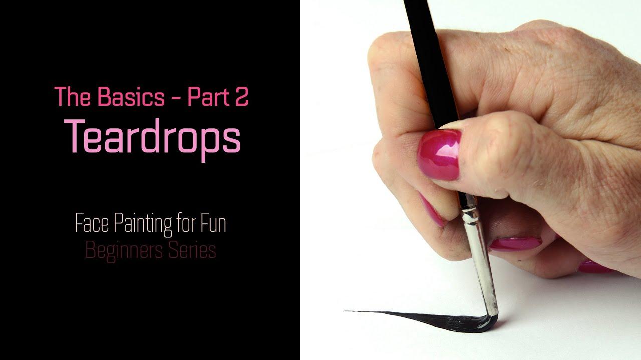 LINEWORK Tutorial Part 2: Teardrops - Face Painting for Fun - Beginners  Series