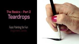LINEWORK Tutorial Part 2: Teardrops - Face Painting for Fun - Beginners Series