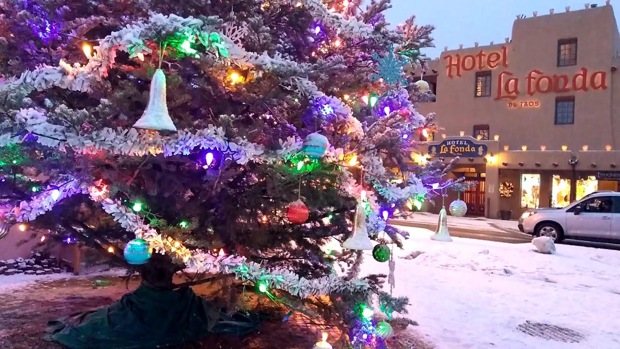 Taos New Mexico plaza Christmas Eve