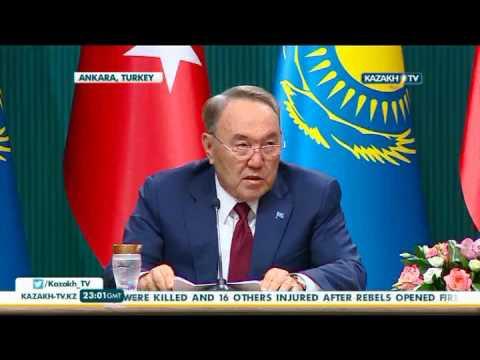 President Nazarbayev pays official visit to Turkey