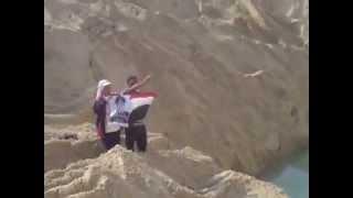 فرحة المواطنين بظهور المياه فى مواقع الحفر بقناة السويس الجديدة أغسطس 2014