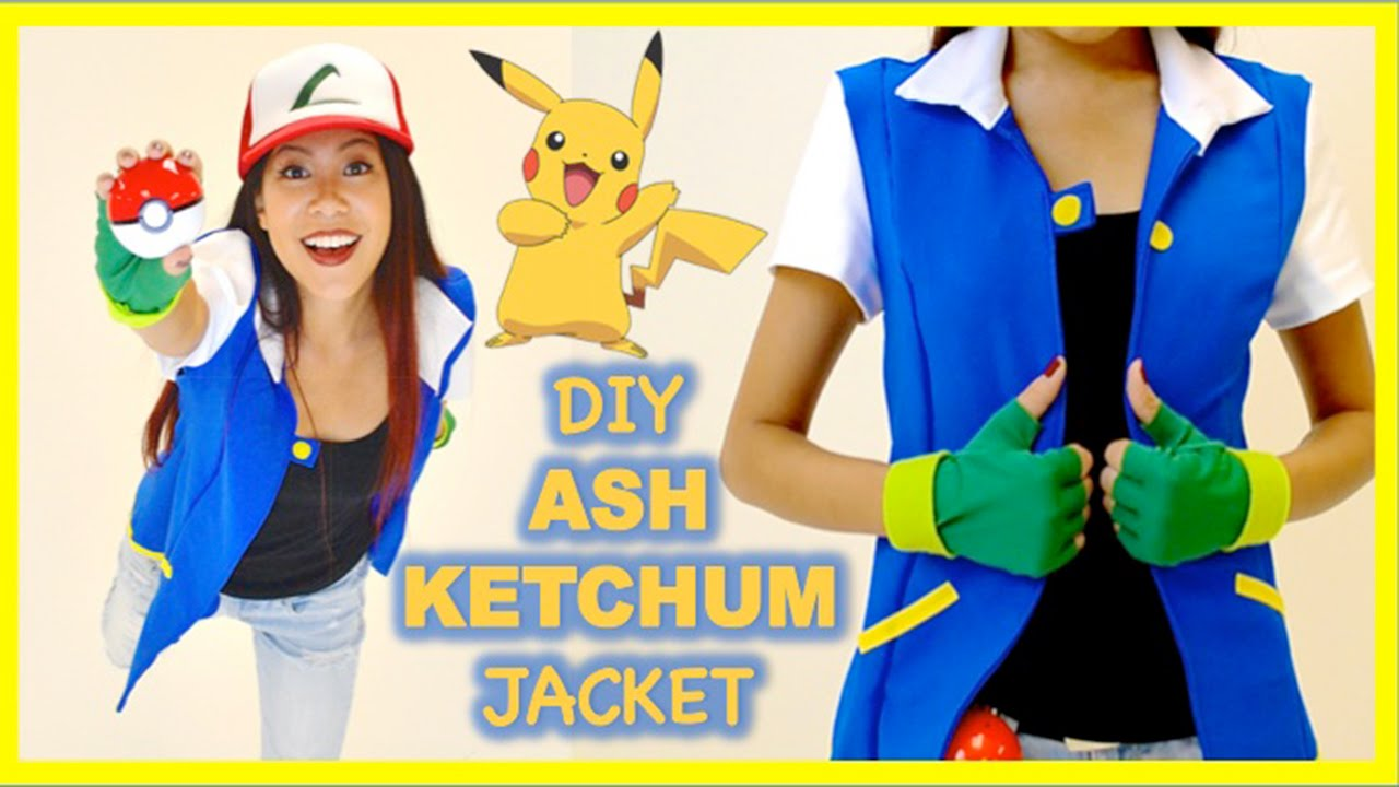 Diy Ash Ketchum Jacket Pokemon Costume Cosplay Youtube