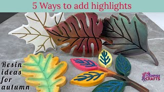 Resin for beginners - 5 ways to highlight resin moulds
