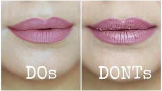 Liquid Lipstick Mistakes to Avoid | Do