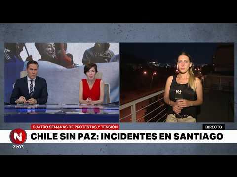 VIOLENTAS PROTESTAS en SANTIAGO de CHILE - Telefe Noticias
