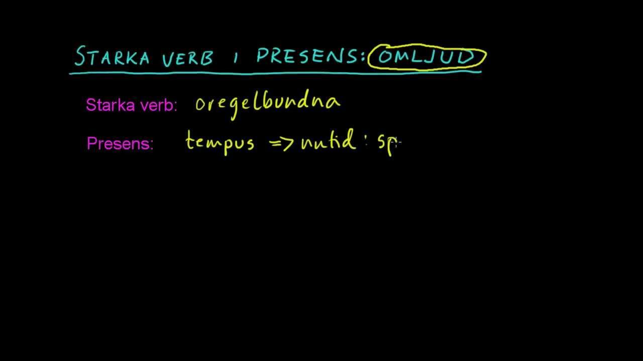 Tyska 3: Presens av starka verb (omljud)