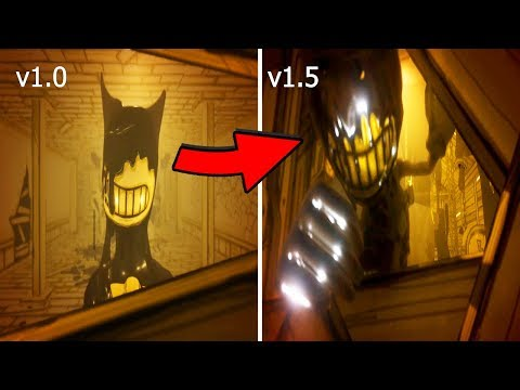 Bendy Chapter 1 Evolution V1.0 VS V1.5 (2017-2018)