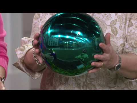 Plow & Hearth Stainless Steel Gazing Ball with Stand on QVC