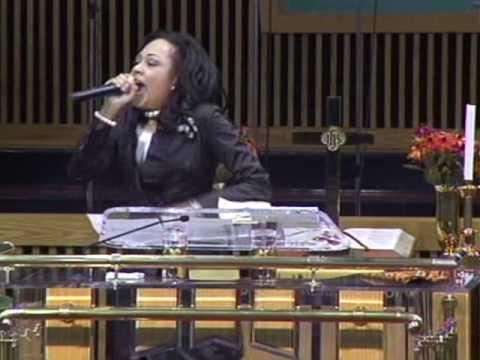 Prophetess Christina Glenn at a Sunday Morning Service in Michigan