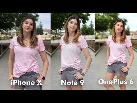 Samsung Galaxy Note 9 Camera vs iPhone X vs OnePlus 6!