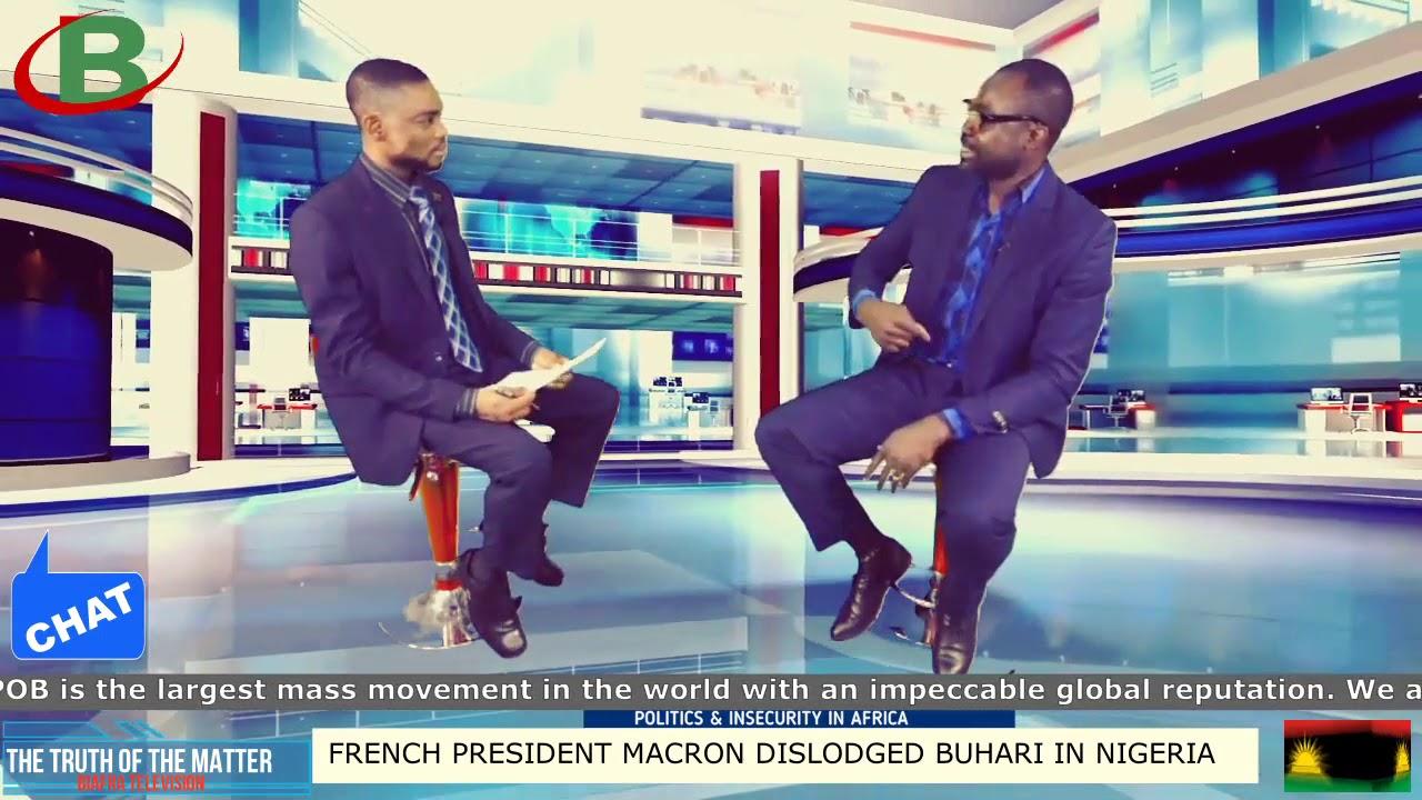FRENCH PRESIDENT EMMANUEL MACRON DISLODGED MOHAMADU BUHARI IN NIGERIA