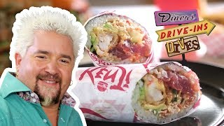 Sushi Burrito from #DDD with Guy Fieri | Food Network