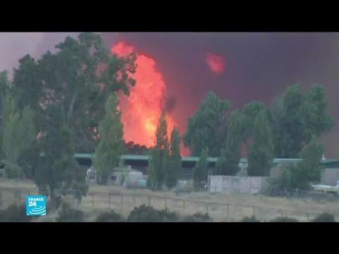 حريق هائل خارج عن السيطرة في جنوب كاليفورنيا بات يهدد آلاف الأشخاص والمنازل  - نشر قبل 5 ساعة