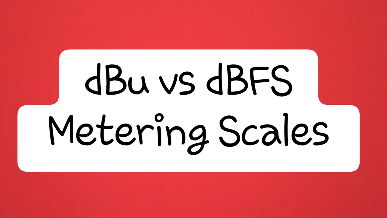 Audio Metering: What is dBu vs dBFS?