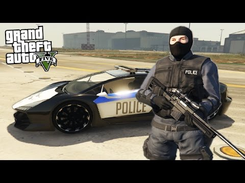 GTA 5 PLAY AS A COP MOD - SWAT TEAM POLICE FORCE!! (GTA 5 Mods)