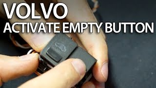 How to activate empty button in Volvo dome light (C30 S40 V50 V60 S60 S80 V70 tuning)