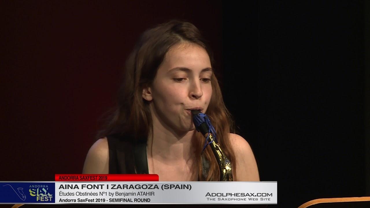 Andorra SaxFest 2019 Semifinal   Aina Font i Zaragoza   Études Obstinées Nº2 by Benjamin Atahir
