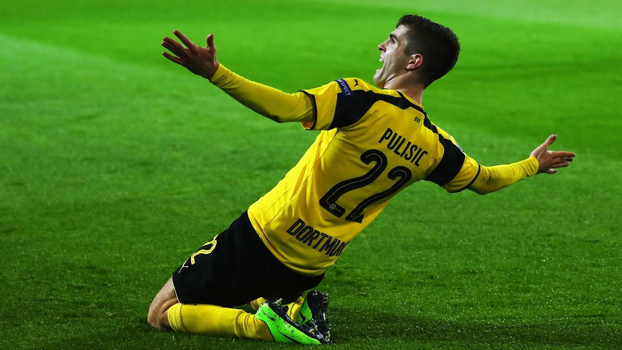Download Gol De Pulisic 2-0 Borussia Dortmund vs Benfica Champions League 08/03/2017