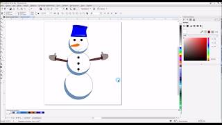 Урок для начинающих //Рисуем снеговичка//CorelDraw X8