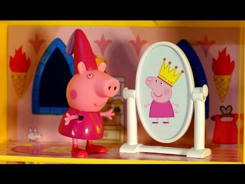 Игрушки Свинка Пеппа на русском языке. Замок Принцессы Пеппы. Peppa Pig Toys