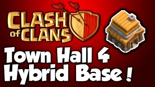 Clash Of Clans - Best Town Hall 4 Hybrid Base (th4) Speed Build 2015 - BEST Town Hall 4 Speed Build