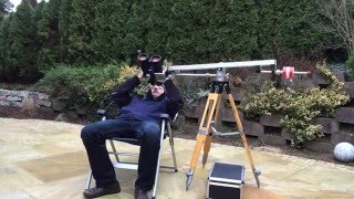 Setting up my P-Mount with my 22x85 astronomical binoculars