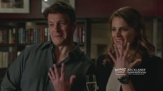"Castle  7x07 First Scene ""Once Upon a Time in the West"" (HQ/cc) Caskett Lanie Espo Ryan Our Place"