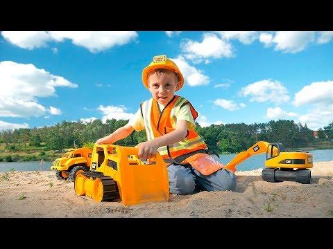 МАШИНКИ для Детей и Строитель Даник - Все серии подряд про МАШИНКИ