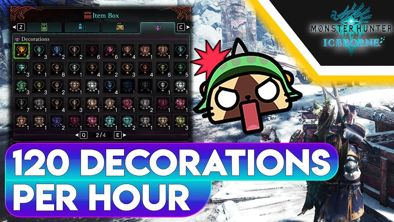 Mhw Iceborne Fastest Decoration Farming Method 2020 Updated Youtube