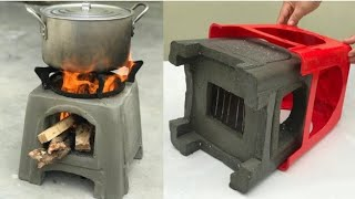 إصنع موقد حطب للطبخ الصحي  بواسطة كرسي بلاستيكي قديم !