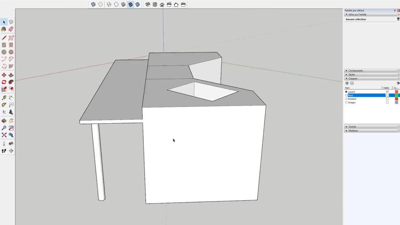 tuto r aliser sa cuisine dans sketchup formation am nagement d 39 int rieur youtube. Black Bedroom Furniture Sets. Home Design Ideas