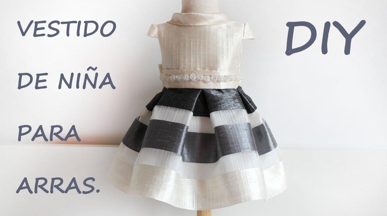 Vestido de niña para arras. Costura diy para bodas y eventos. - YouTube