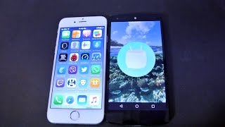 Nexus 5 Android 6.0 Marshmallow vs iPhone 6 iOS 9.1 Speed Test