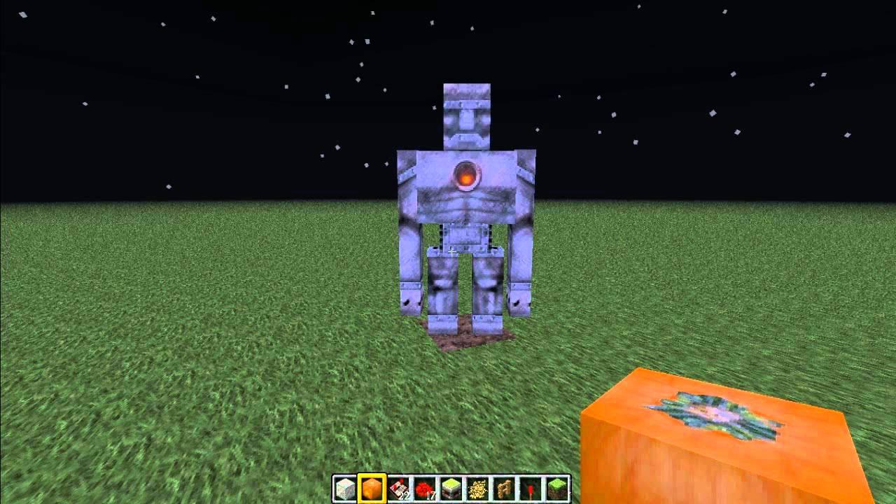 Lets Show Minecraft RoboterDorfbewohner Wächter Herbei Rufen - Minecraft dorfbewohner bauen hauser mod