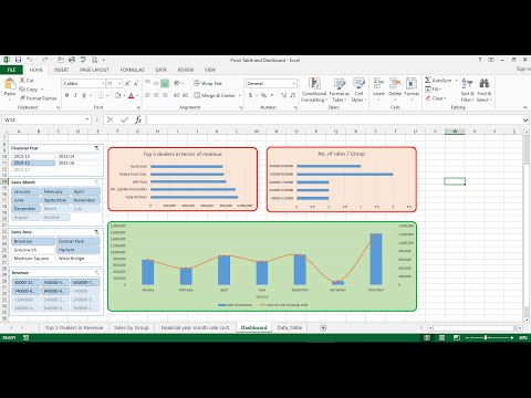 Pivot Tables and Dashboards for reporting