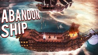 PIRATE STRATEGY GAME! COMMAND YOUR OWN PIRATE SHIP! SHIP BATTLES! Abandon Ship GAMEPLAY