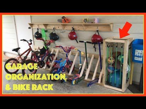 Garage Organization and Bike Rack