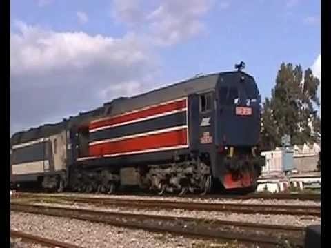 Tunisia - SNCFT 060-DP-150 departs Tunis Ville with ECS to carraige depot