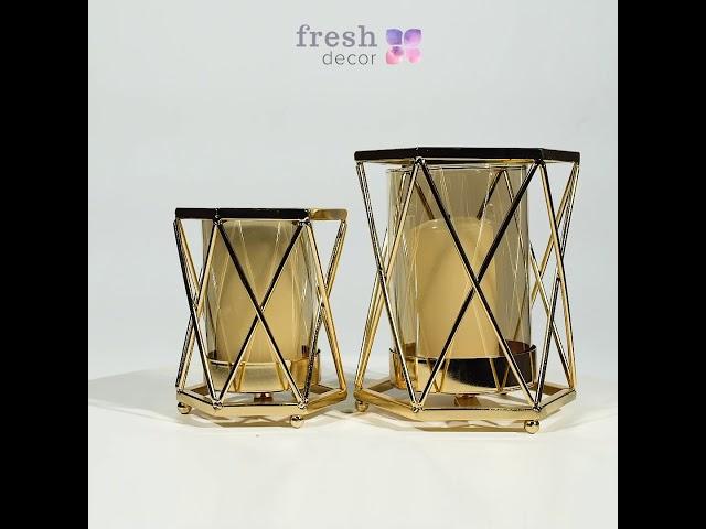 Подсвечники золотые с  из стекла в виде стаканов в оплетке продажа в Украине. Рассчитаны на 1 свечу
