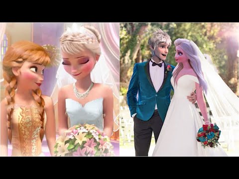 Thumbnail: Elsa Marries Jack ! Anna Marries Kristoff ! Jack is the new King ! Frozen Wedding Kiss Parody